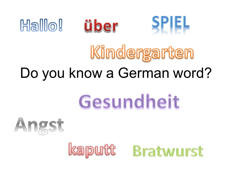 Do you know a German word