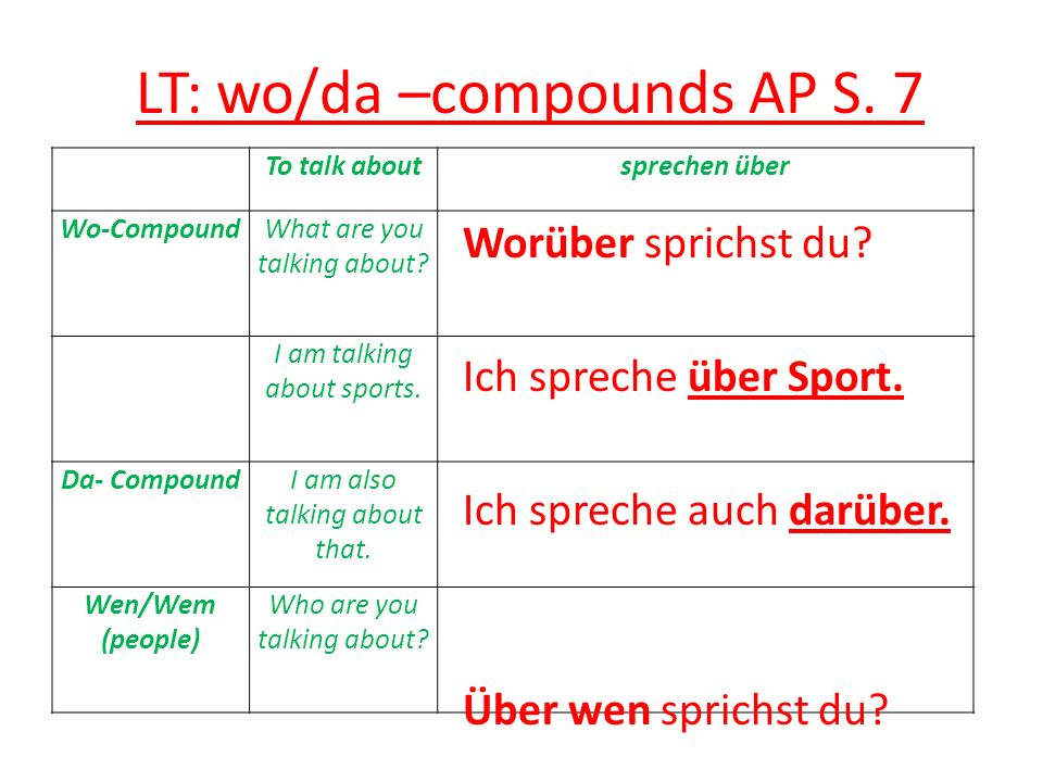 LT: wo/da –compounds AP S. 7