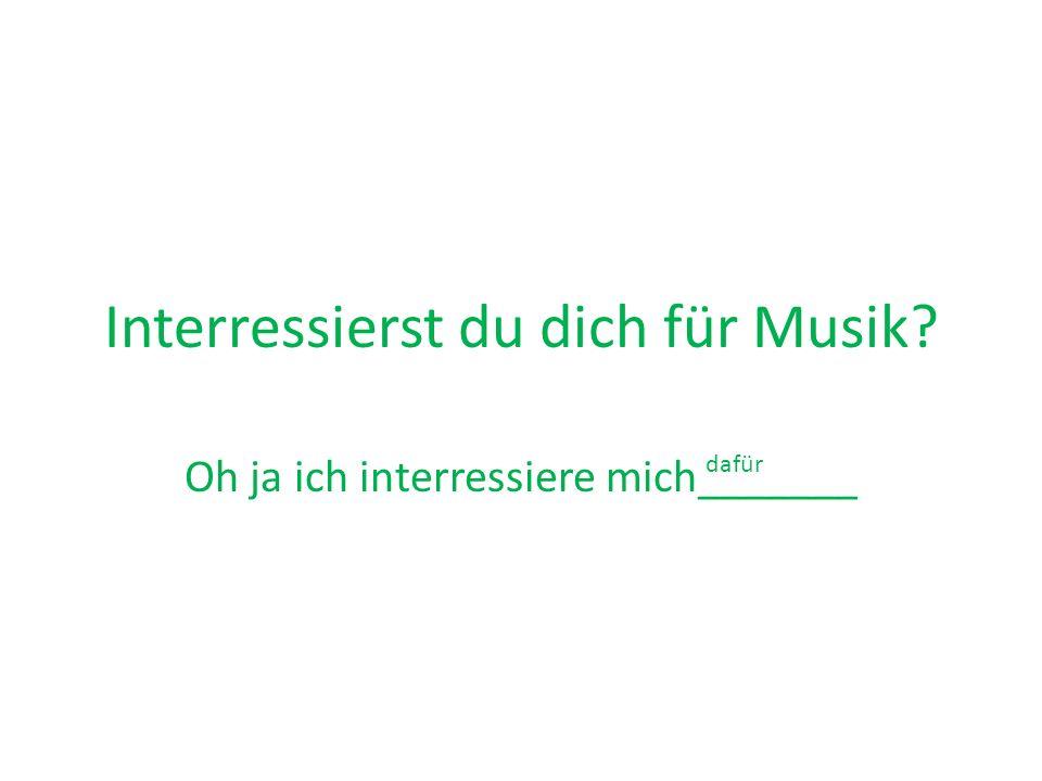 Interressierst du dich für Musik