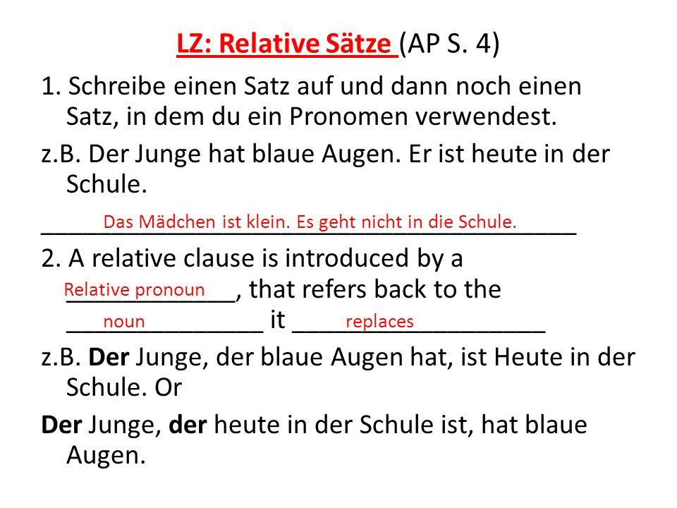 LZ: Relative Sätze (AP S. 4)