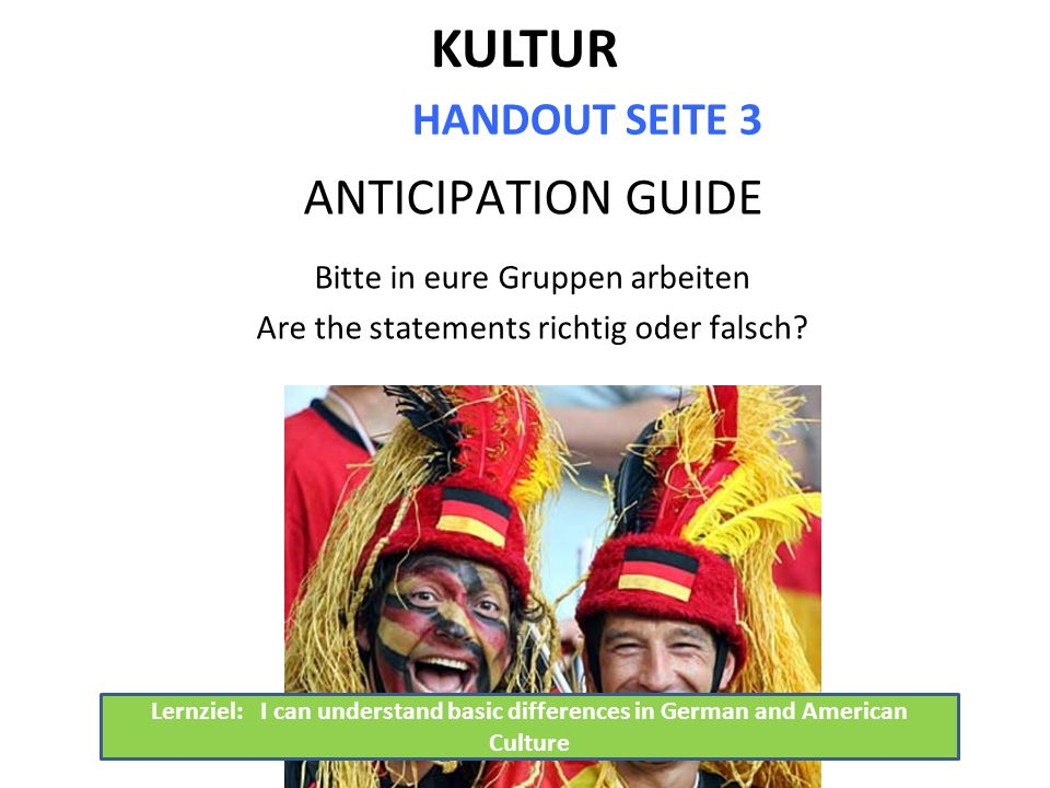 KULTUR ANTICIPATION GUIDE HANDOUT SEITE 3