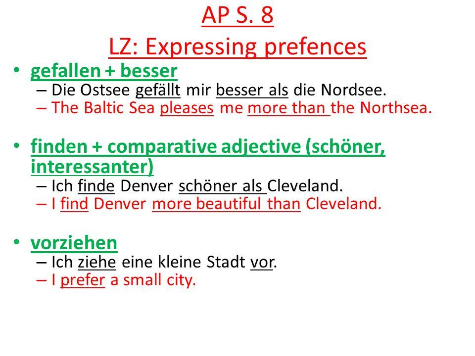 AP S. 8 LZ: Expressing prefences