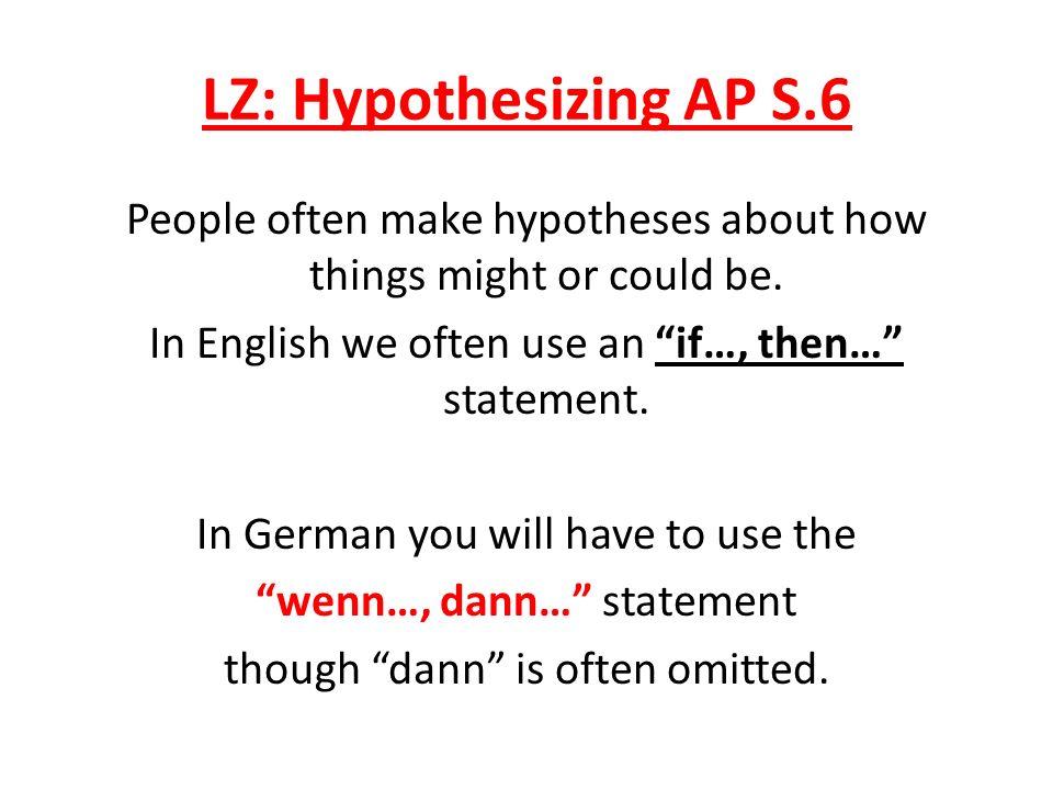 LZ: Hypothesizing AP S.6
