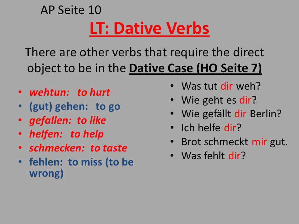 LT: Dative Verbs AP Seite 10