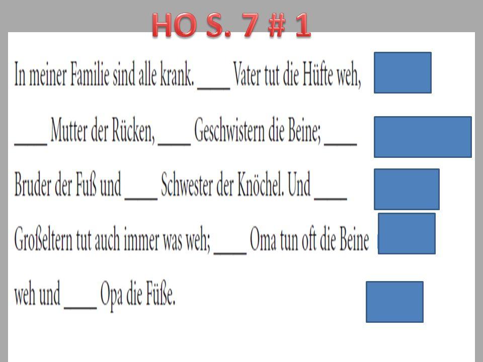 HO S. 7 # 1