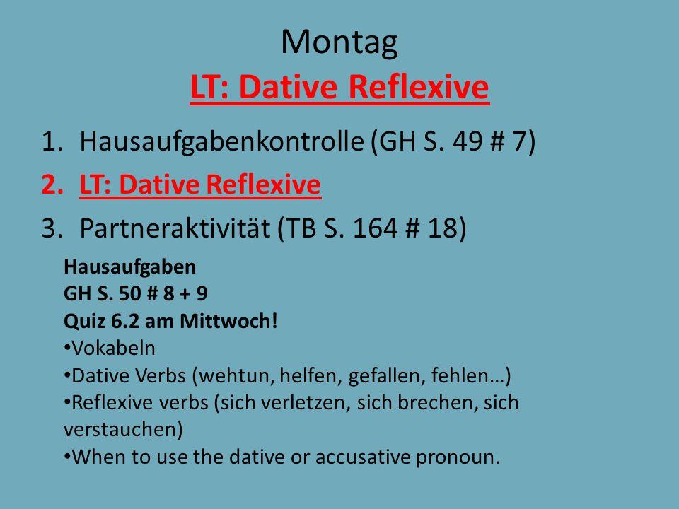 Montag LT: Dative Reflexive