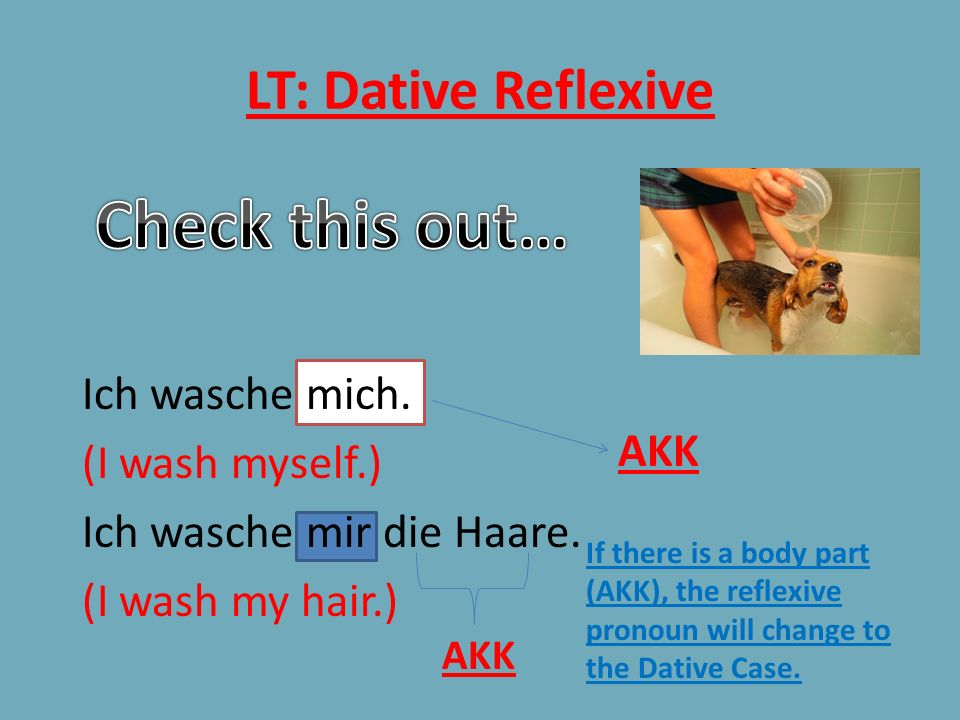 Check this out… LT: Dative Reflexive