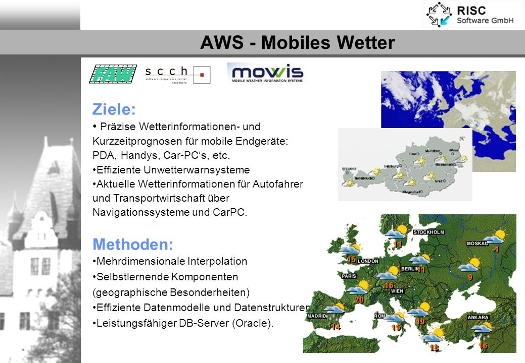AWS - Mobiles Wetter Ziele: Methoden: Partner: MOWIS GmbH