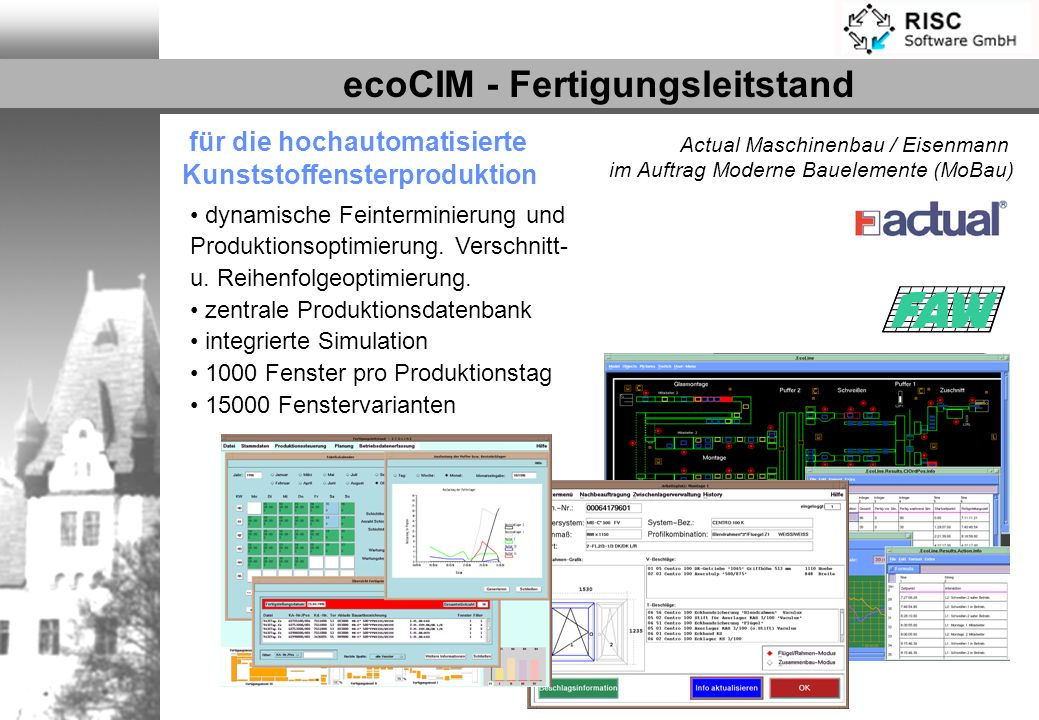 ecoCIM - Fertigungsleitstand