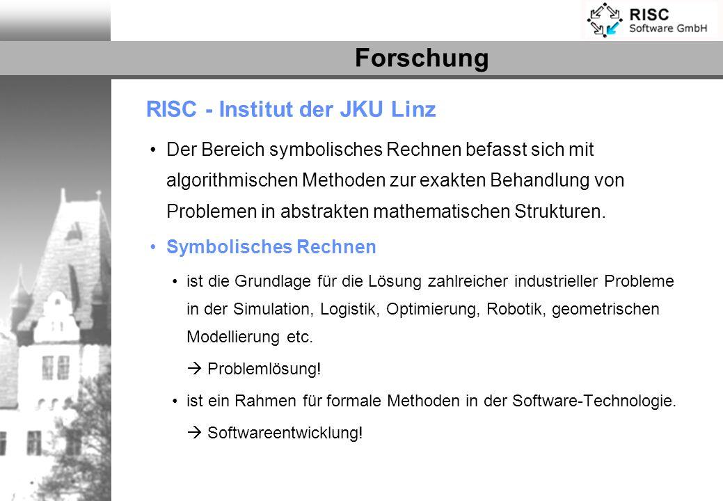 Forschung RISC - Institut der JKU Linz