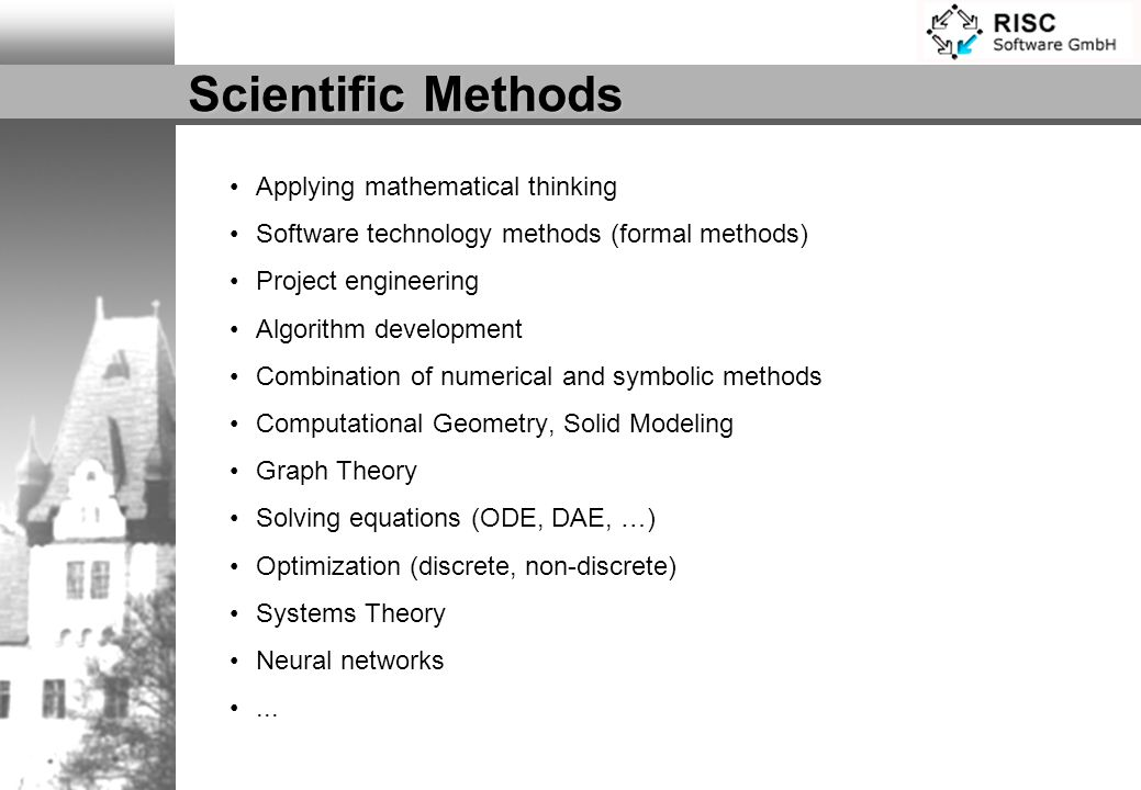 Scientific Methods Applying mathematical thinking