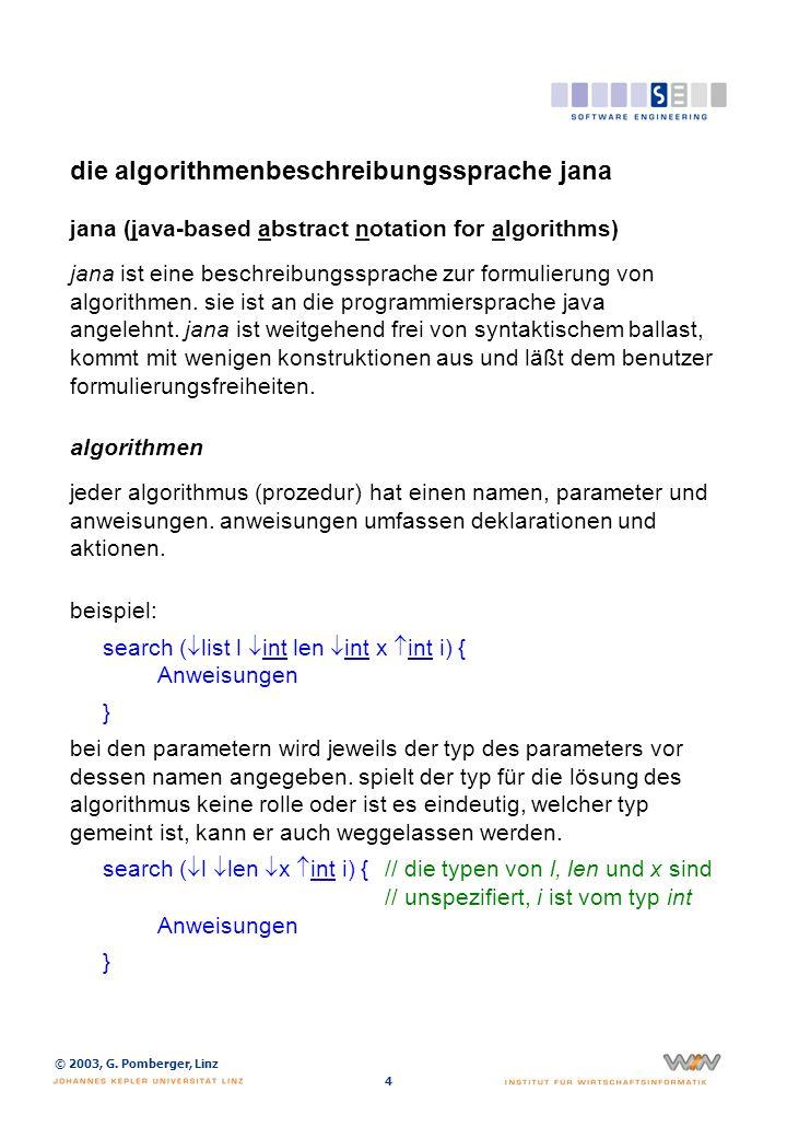 die algorithmenbeschreibungssprache jana (2)