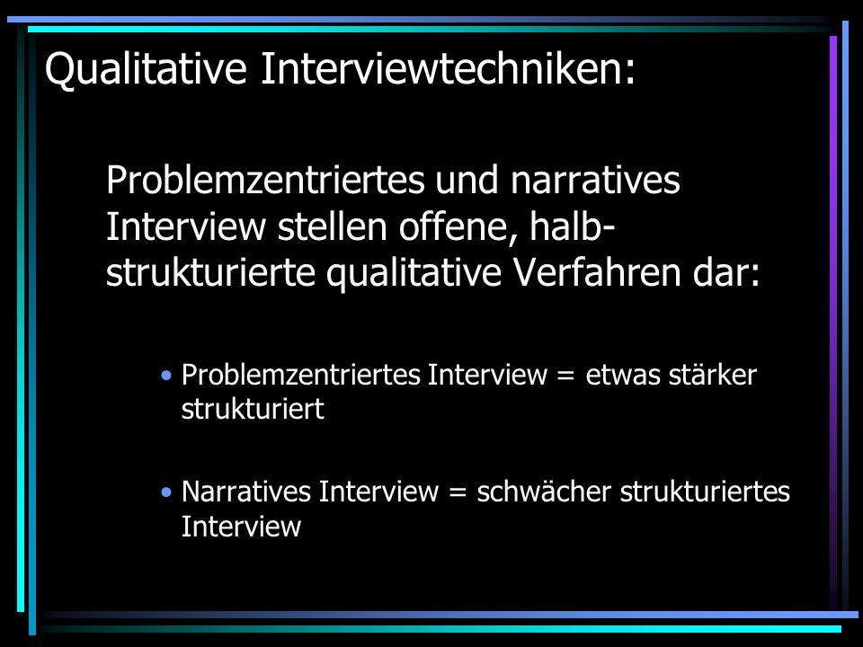 Qualitative Interviewtechniken: