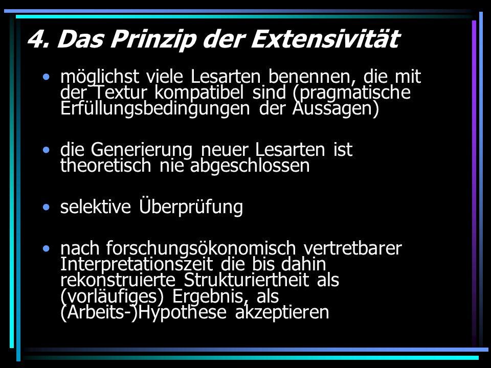 4. Das Prinzip der Extensivität