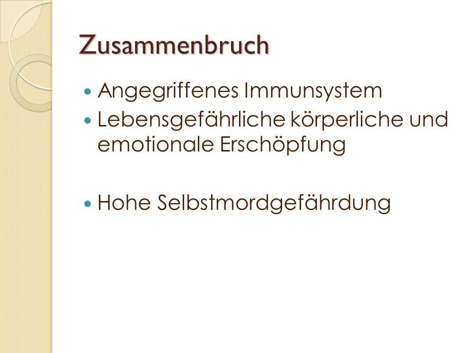 Zusammenbruch Angegriffenes Immunsystem
