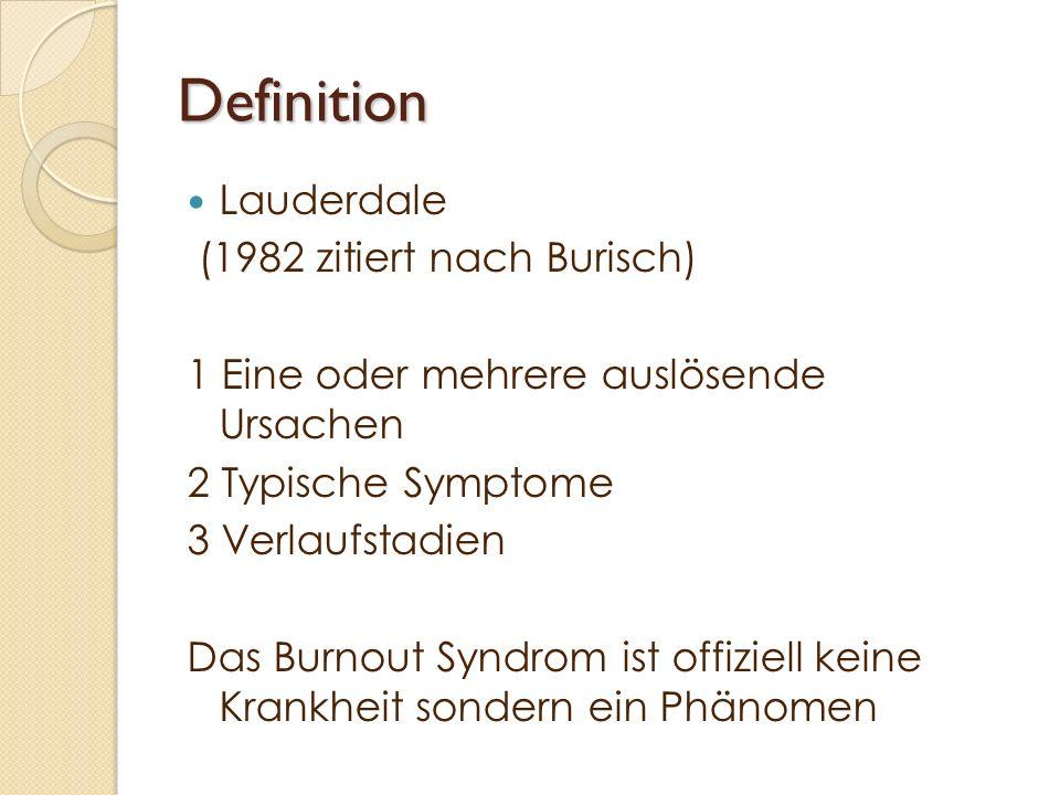 Definition Lauderdale (1982 zitiert nach Burisch)