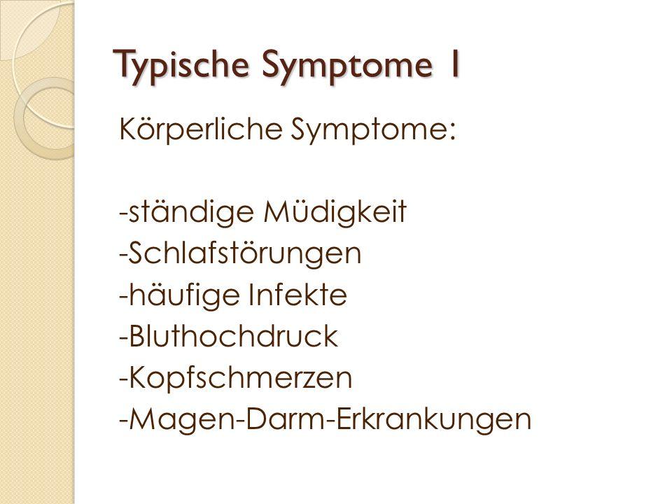Typische Symptome 1