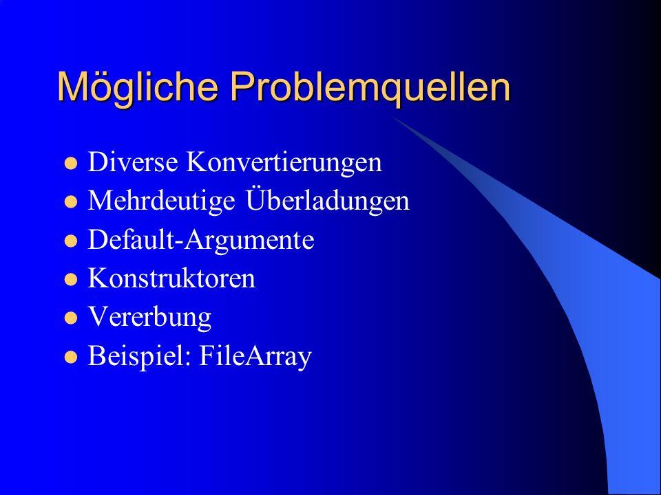 Mögliche Problemquellen