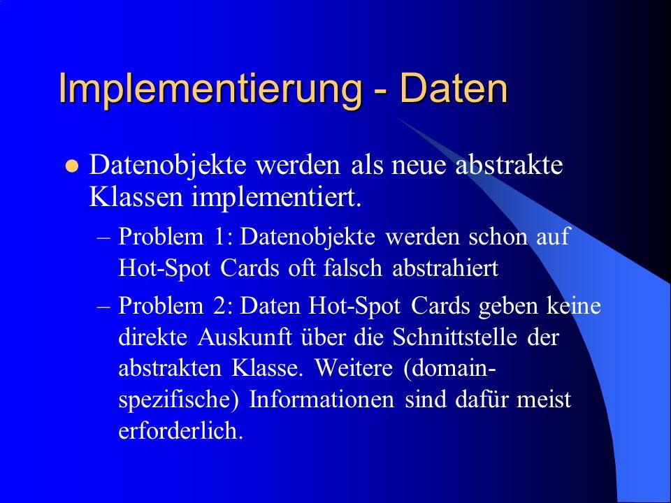 Implementierung - Daten