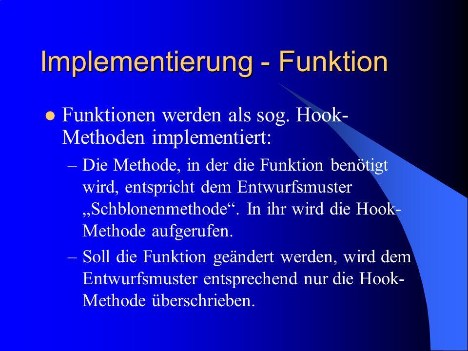 Implementierung - Funktion
