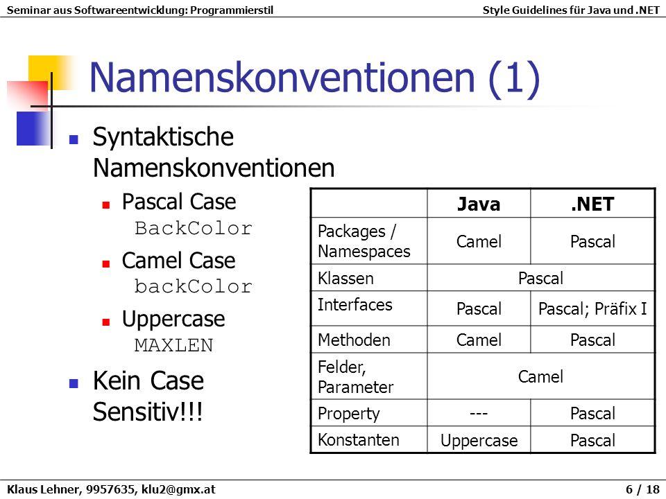 Namenskonventionen (1)