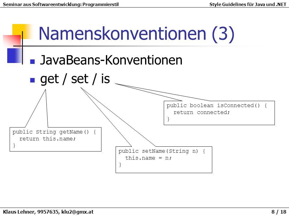 Namenskonventionen (3)