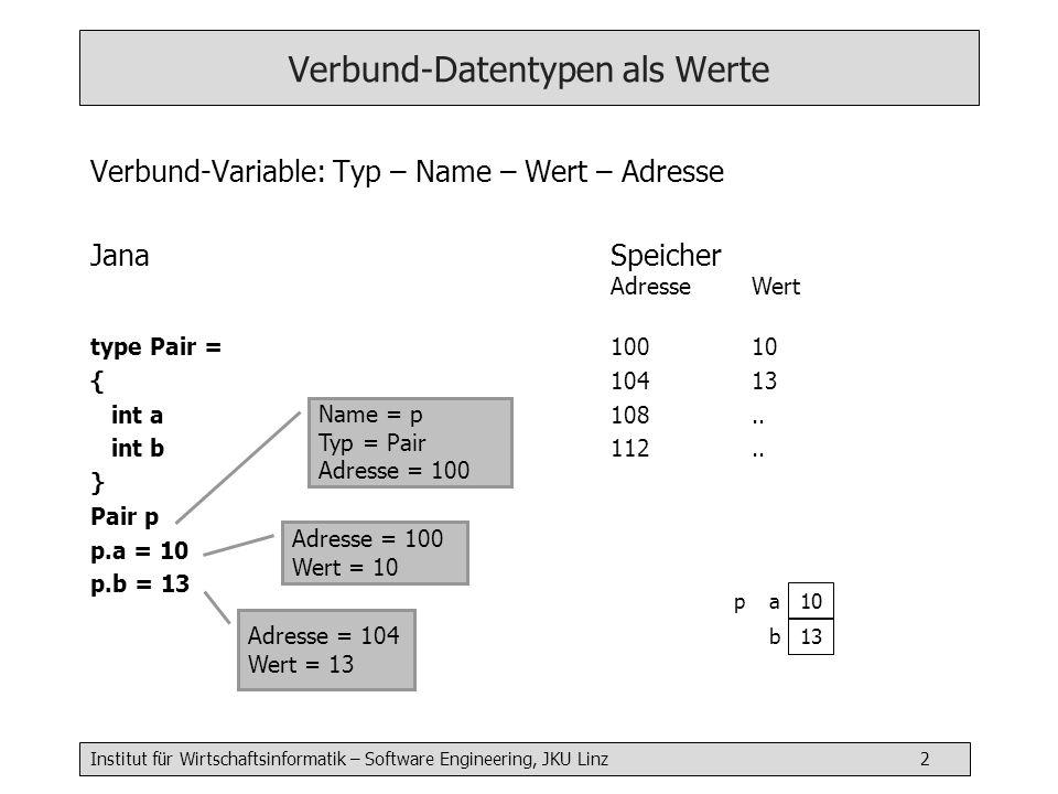 Verbund-Datentypen als Werte