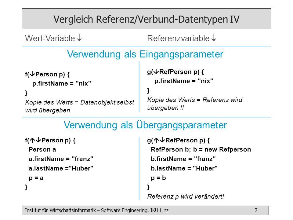 Vergleich Referenz/Verbund-Datentypen IV