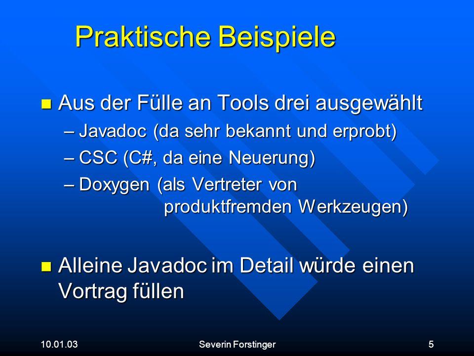 Praktische Beispiele Aus der Fülle an Tools drei ausgewählt