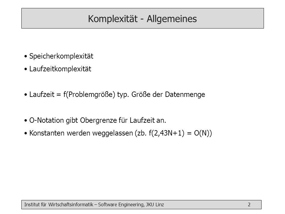 Komplexität - Allgemeines