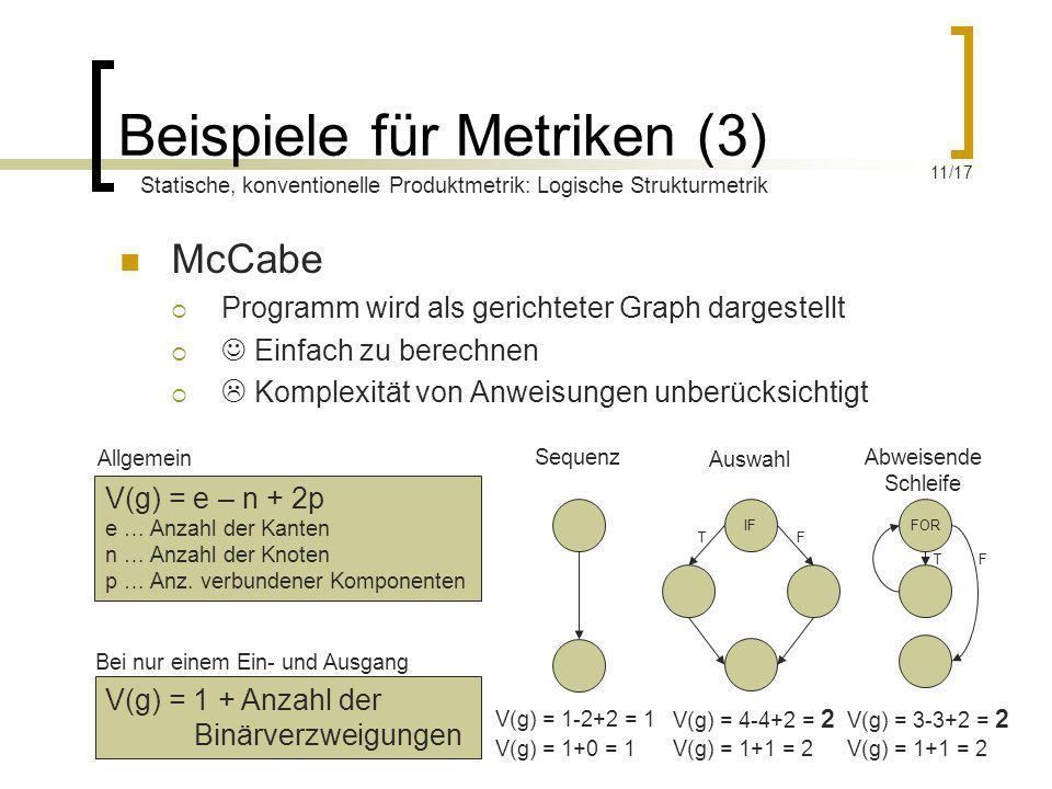 Beispiele für Metriken (3)
