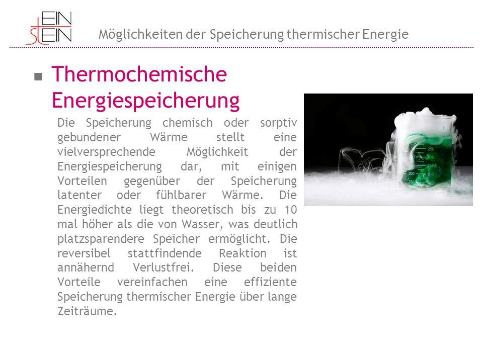 Thermochemische Energiespeicherung