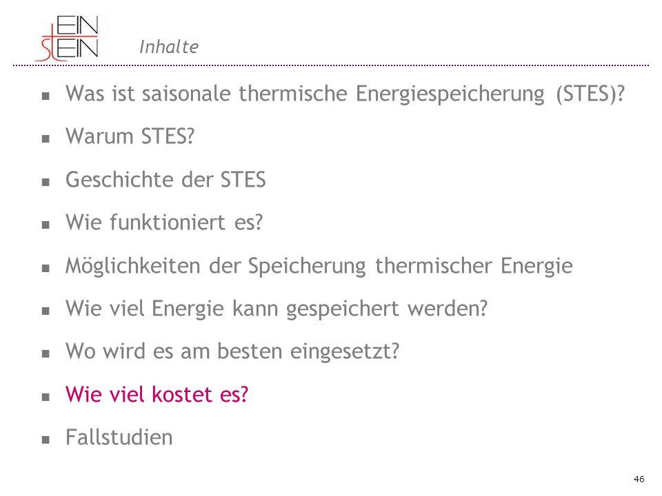 Was ist saisonale thermische Energiespeicherung (STES) Warum STES