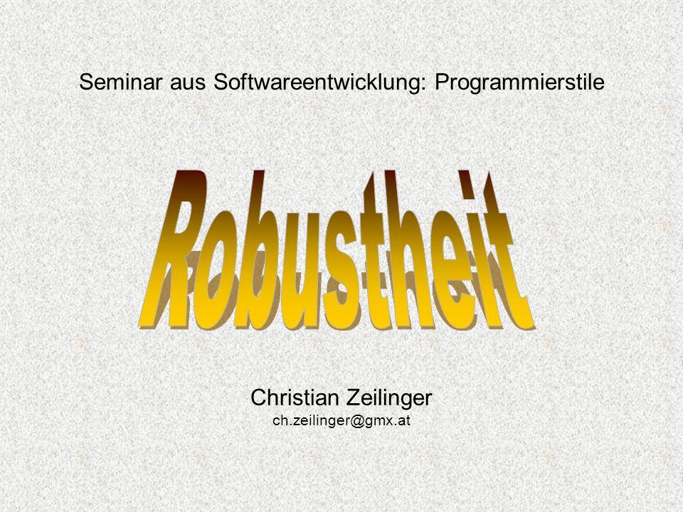 Seminar aus Softwareentwicklung: Programmierstile