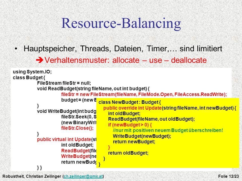 Verhaltensmuster: allocate – use – deallocate