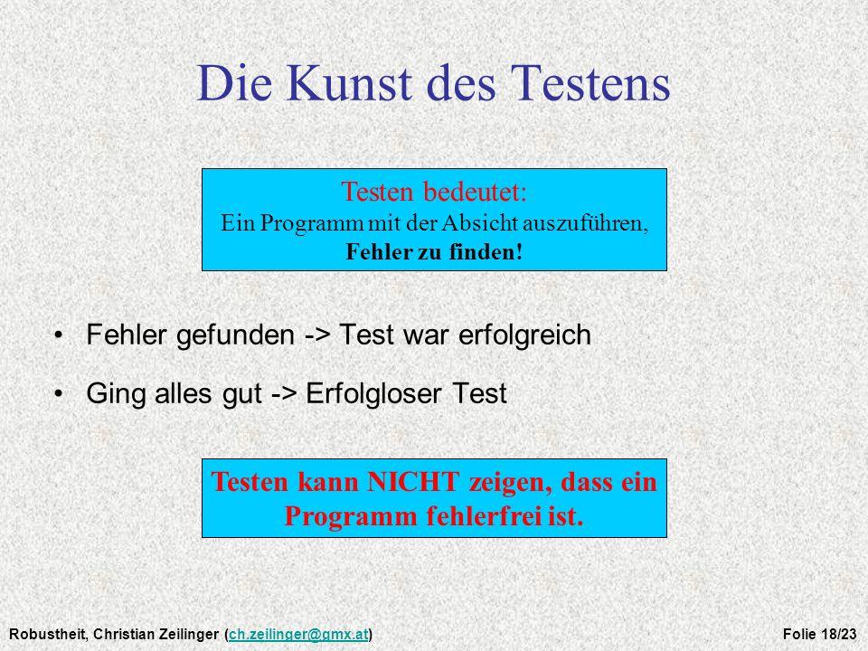 Die Kunst des Testens Testen bedeutet: