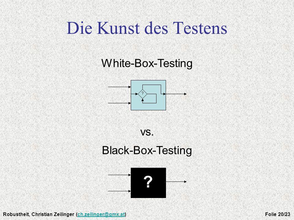 Die Kunst des Testens White-Box-Testing vs. Black-Box-Testing