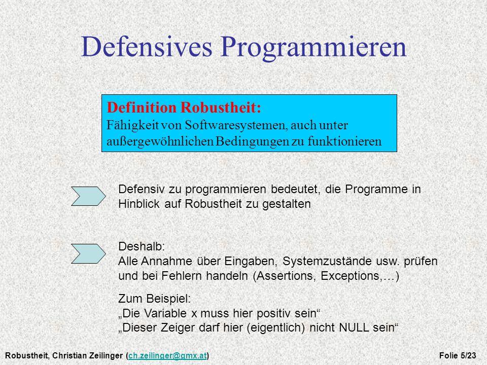 Defensives Programmieren