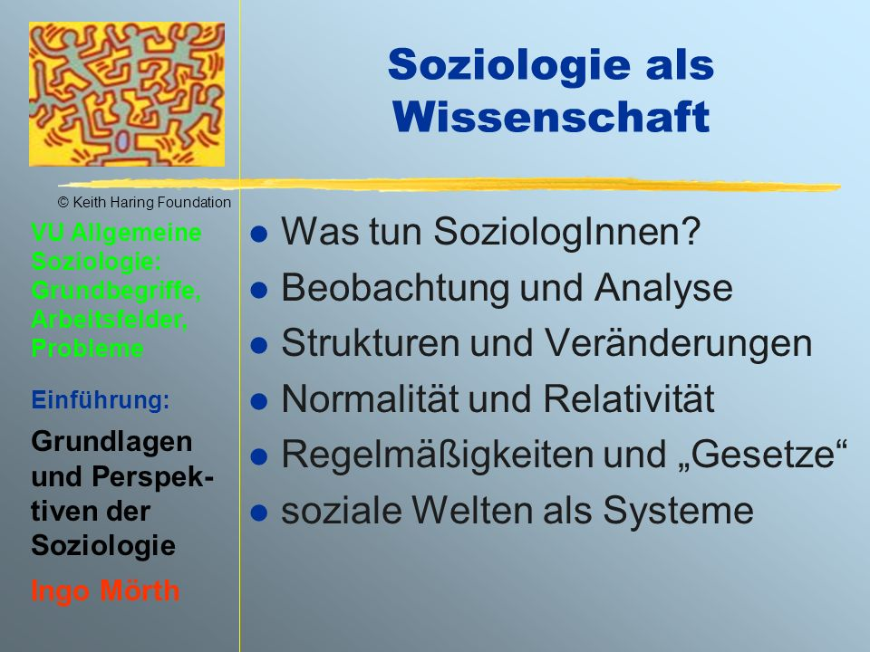 Soziologie als Wissenschaft