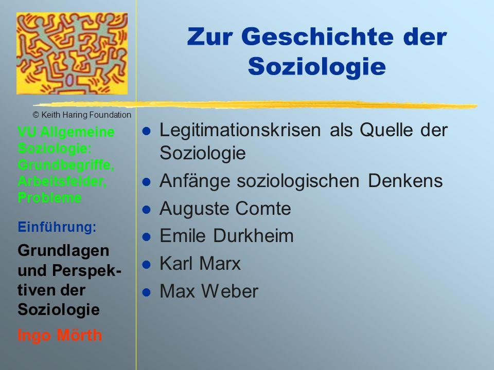 Zur Geschichte der Soziologie