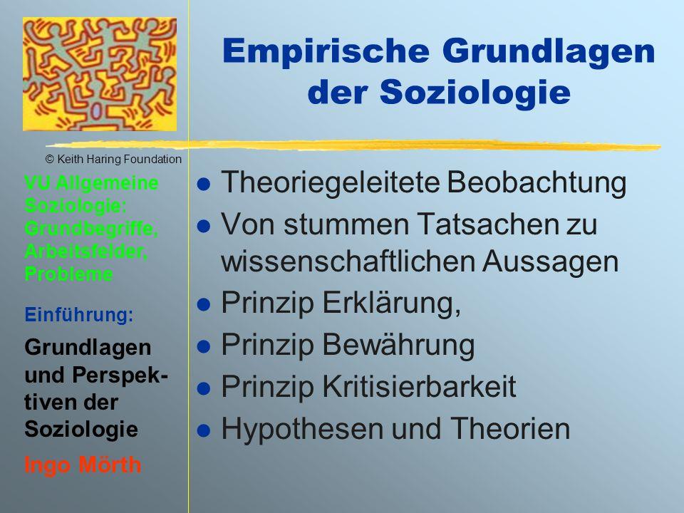 Empirische Grundlagen der Soziologie