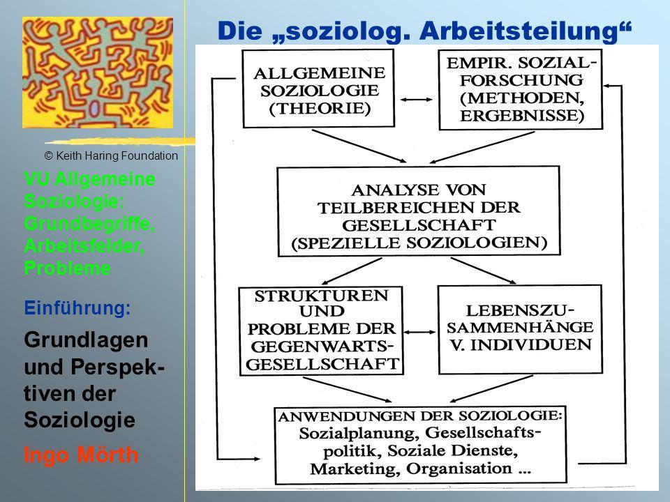 """Die """"soziolog. Arbeitsteilung"""