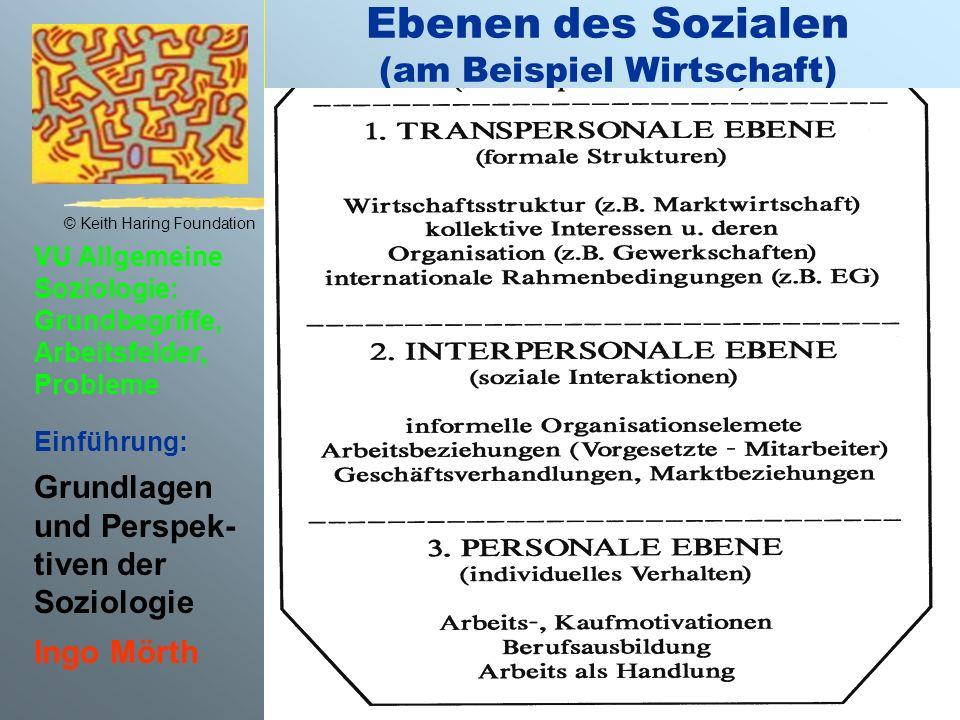 Ebenen des Sozialen (am Beispiel Wirtschaft)