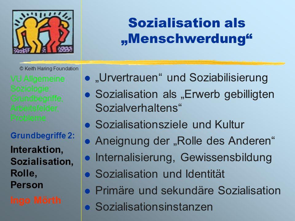 """Sozialisation als """"Menschwerdung"""