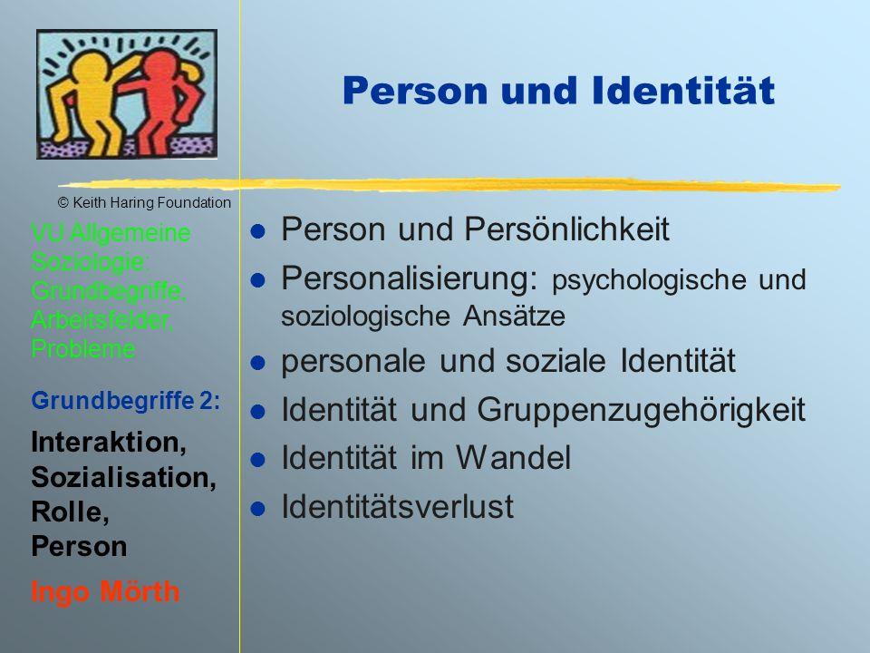 Person und Identität Person und Persönlichkeit