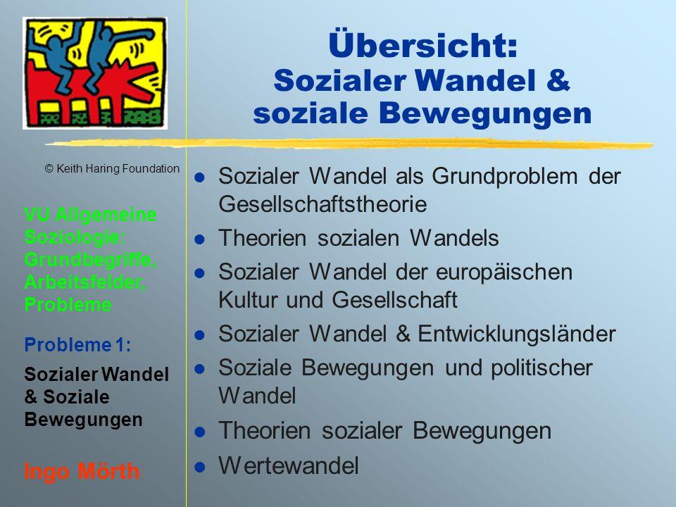 Übersicht: Sozialer Wandel & soziale Bewegungen