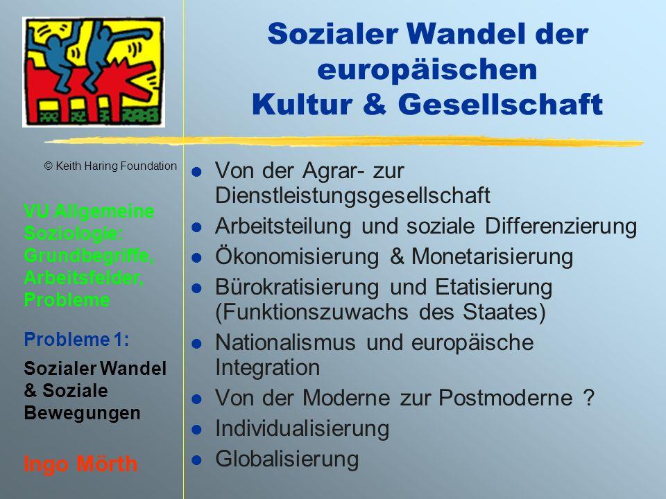 Sozialer Wandel der europäischen Kultur & Gesellschaft