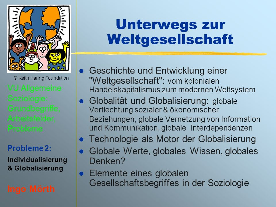 Unterwegs zur Weltgesellschaft