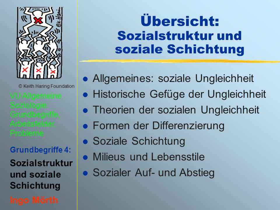 Übersicht: Sozialstruktur und soziale Schichtung