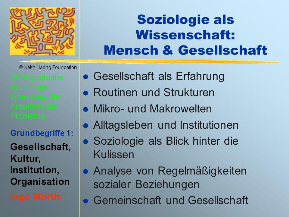 Soziologie als Wissenschaft: Mensch & Gesellschaft